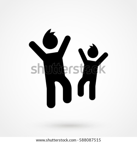 Child Icon in trendy flat style isolated on grey background. Man symbol