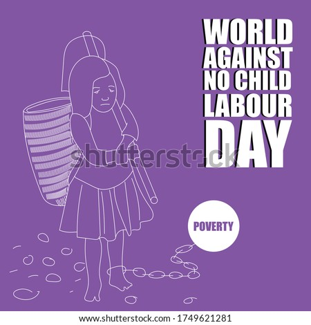 Child Labour, world against no child labour day, stop child labour, east indian girl holding hoe, poverty forced her for child labour.