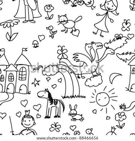 child pattern seamless