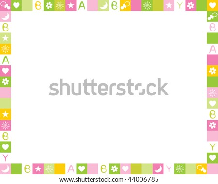 Child photo framework. Vector - stock vector
