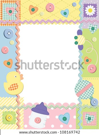 Child photo framework. Vector illustration