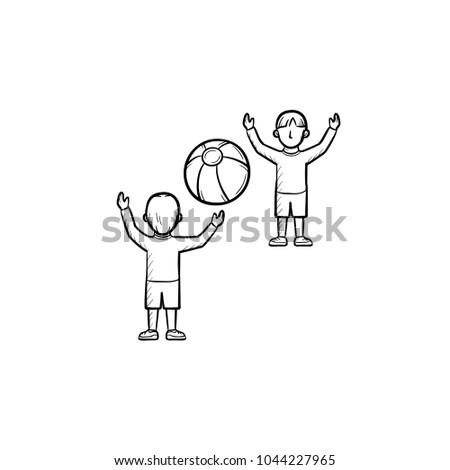 child playing with friend hand