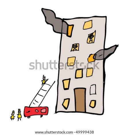 child's drawing of a building
