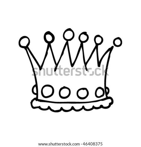 Child's drawing of a crown
