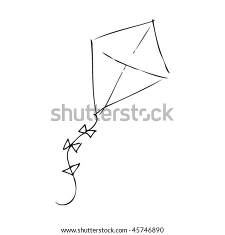 child's drawing of a kite