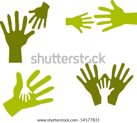 Child's Hands and Adult Hands