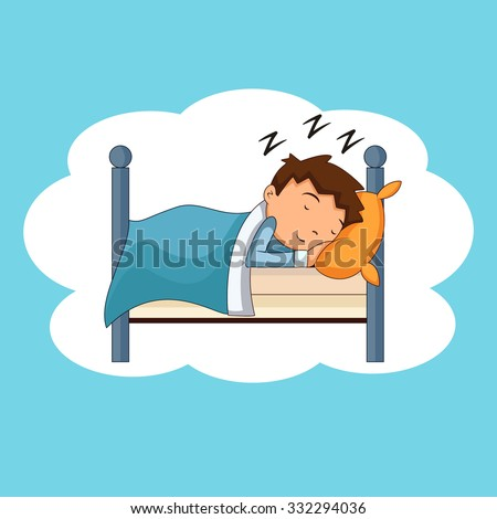 child sleeping  bedtime  vector