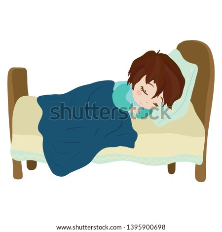 child sleeps soundly in his or