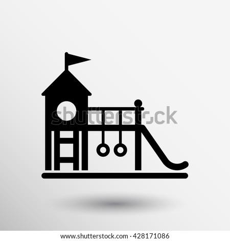 child teeter vector icon...