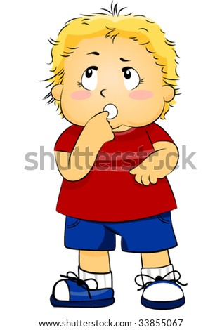 Child Thinking - Vector