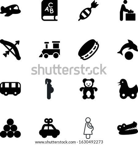 child vector icon set such as