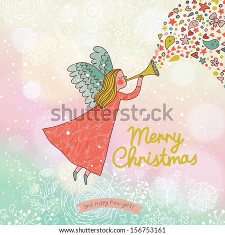 childish merry christmas card
