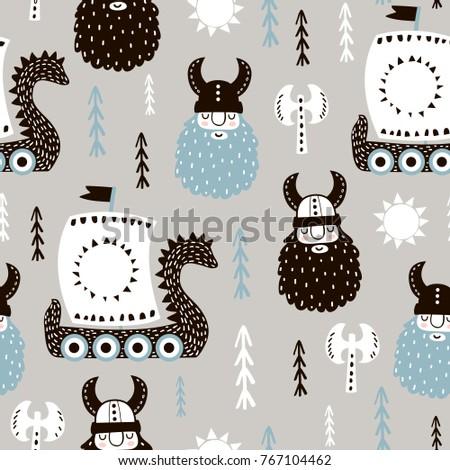 childish seamless pattern with