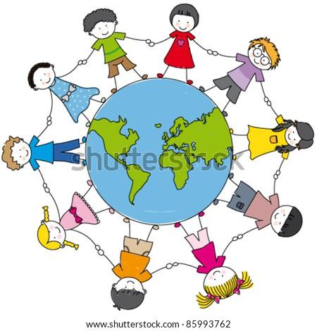 children around the world united