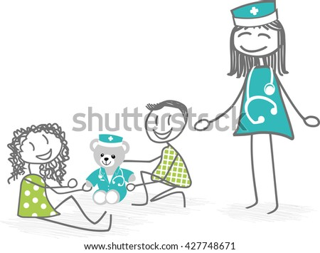 children at hospital with