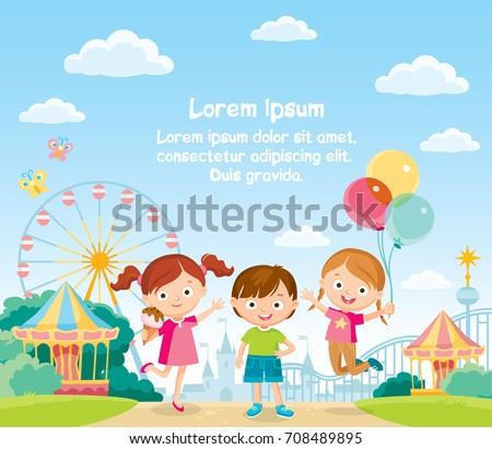 Children at the amusement park
