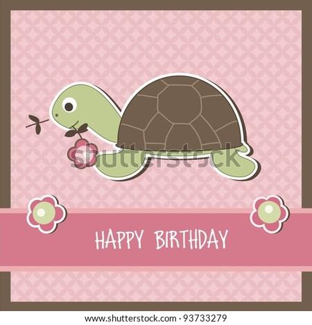 Children birthday card, vector