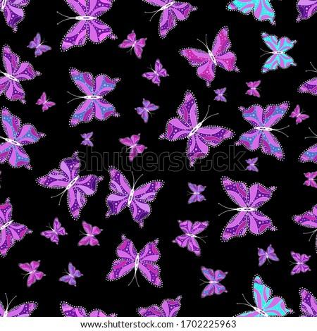children butterfly seamless