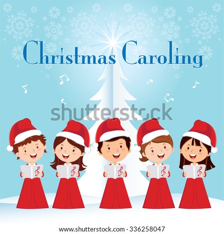 children christmas caroling