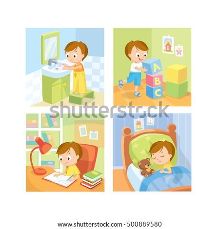 Children daily routine
