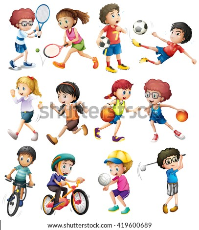 children doing different sports