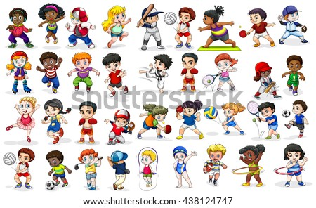 stock-vector-children-doing-many-sports-and-activities-illustration