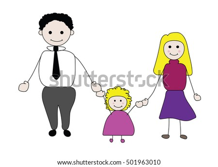 children drawing of a father