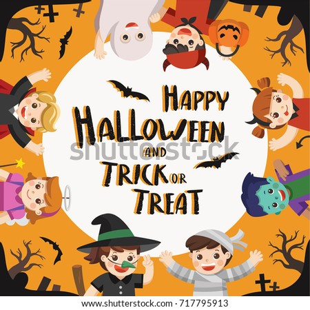 Free Vector Trick Or Treat Background Download Free Vector Art
