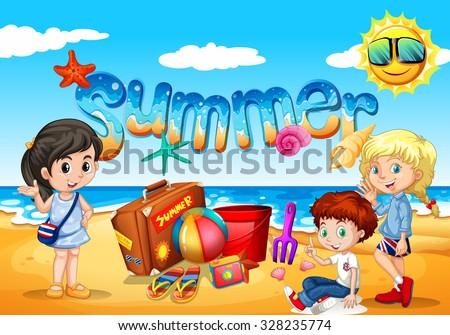 children enjoy summer on the