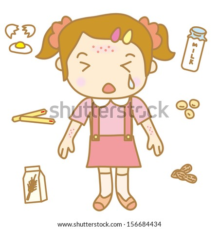 Children Food Allergy Stock Vector Illustration 156684434 ...