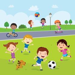 Children fun in the park