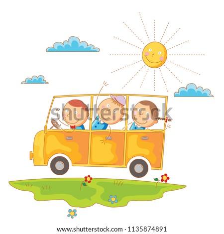 children go to school by bus