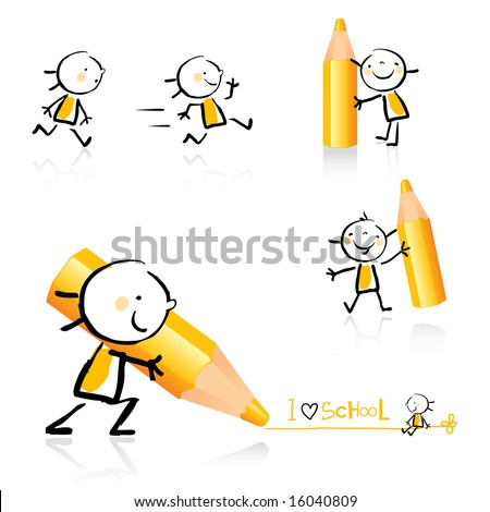 children hand drawing style