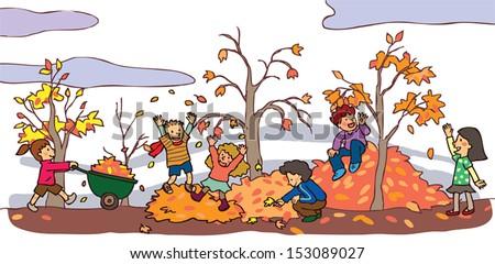 children having a good time