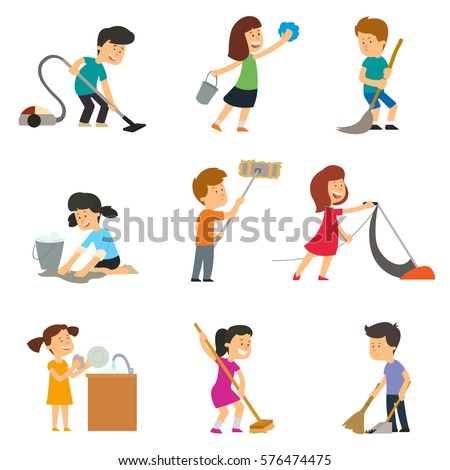 vector images illustrations and cliparts children help their