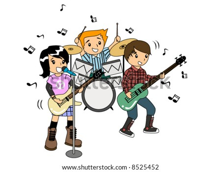 Children in a Band - Vector