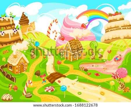 children in candy land  kids in