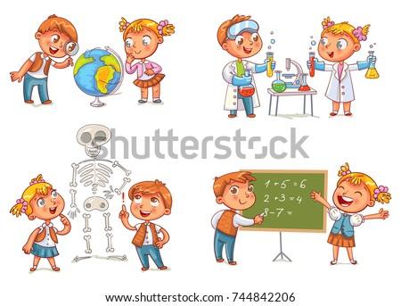 children in the lesson of