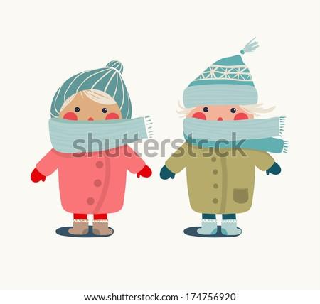 children in winter cloth....