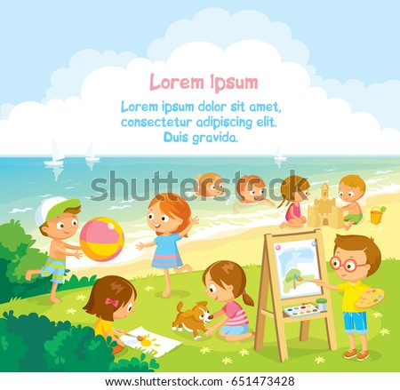 children kids sunbathe