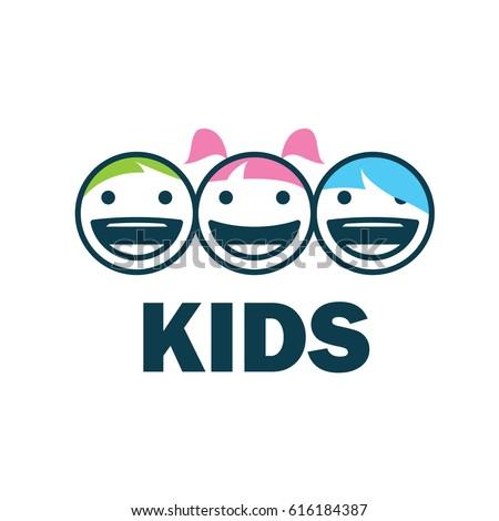 children logo design template....