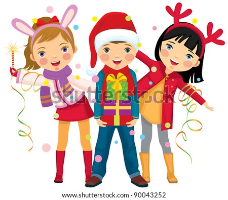 Children make merry at Christmas party/Children's Christmas party a surprise