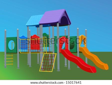 playgrounds for preschoolers. Children Playground.