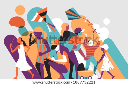 Children playing. Kids activities and games. Happy childhood concept Foto stock ©