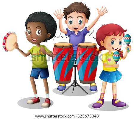 children playing musical...