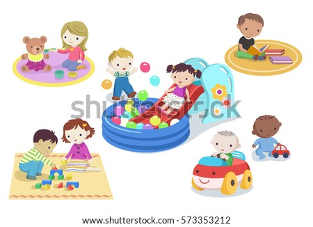 children playing with toys in