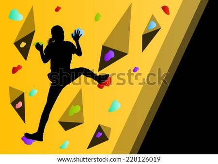 Silhouette Of Wall Climbers - Download Free Vector Art, Stock ...