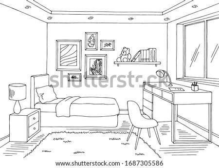 children room graphic black