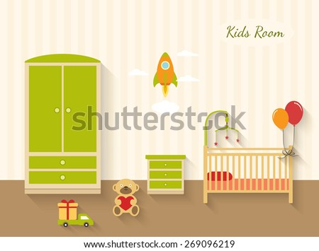 children room interior kids