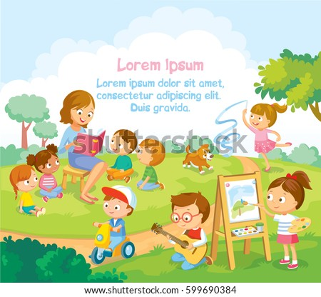 Children's activities  at the summer camp